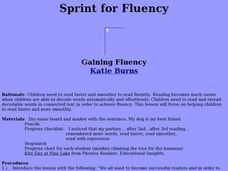 Sprint for Fluency Lesson Plan