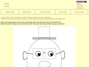 Squares and Ovals: Face Picture Worksheet