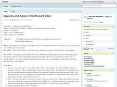 Squares and Square Roots II Lesson Plan