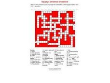 Squigly's Christmas Crossword Worksheet