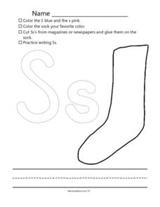 Ss: Following Written Directions Worksheet
