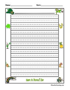 St. Patrick's Day Writing Paper Lesson Plan