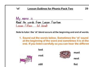 St words Worksheet