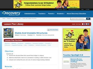 Stable and Unstable Structures Lesson Plan