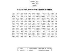 Stack #84200 Word Search Worksheet