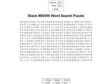 Stack #88599 Word Search Worksheet