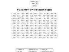 Stack #91186 Word Search Puzzle Worksheet