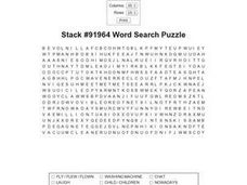 Stack #91964 Word Search Puzzle Worksheet
