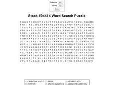 Stack #94414 Word Search Puzzle Worksheet