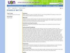 Stages of Matter - Compare/Contrast Lesson Plan