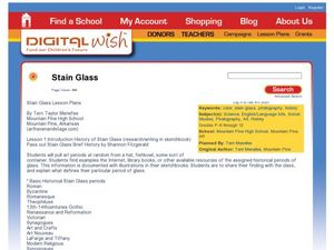 Stain Glass Lesson Plan