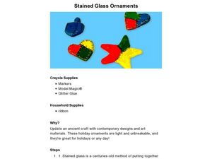 Stained Glass Ornaments Lesson Plan