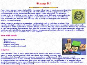 Stamp It Lesson Plan