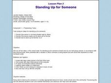 Standing Up for Someone Lesson Plan