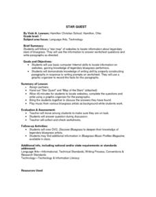 Star Quest Lesson Plan