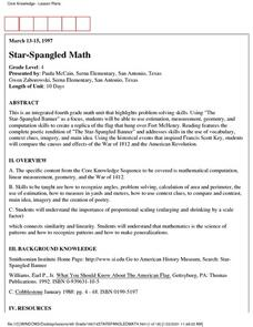 Star-Spangled Math Lesson Plan