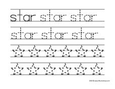 Star Tracing Activity Worksheet