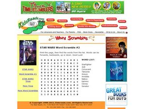 STAR WARS Word Scramble #2 Lesson Plan
