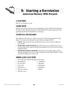 Starting a Revolution Lesson Plan