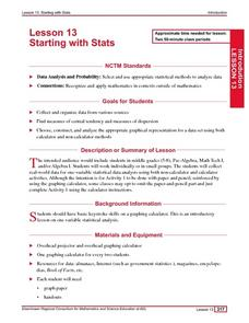 Starting With Stats Lesson Plan