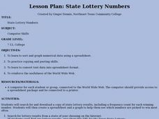State Lottery Numbers Lesson Plan