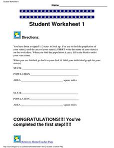 State Project Student Worksheet 1 Lesson Plan