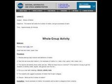 States of Matter - Solid, Liquid, Gas Lesson Plan