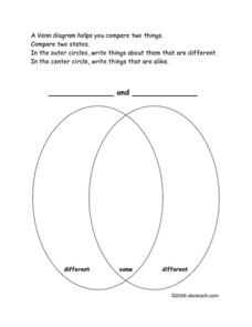 States Venn Diagram Worksheet