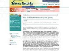 Static Electricity and Lightning Lesson Plan
