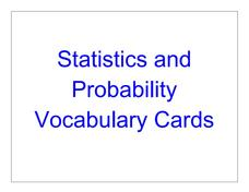 statistics and probability vocabulary cards 3rd 8th grade printables template lesson planet. Black Bedroom Furniture Sets. Home Design Ideas