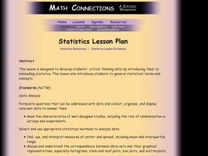 Statistics: Misleading or Accurate? Lesson Plan