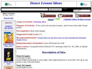 Staying Alive Lesson Plan