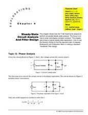 Steady-State Circuit Analysis & Filter Design Lesson Plan