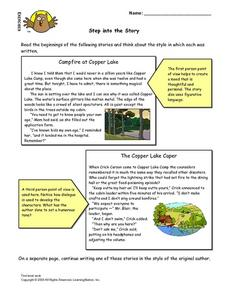 Step Into The Story Lesson Plan