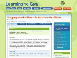 Stepping into the River: In Service to Our Rivers Lesson Plan