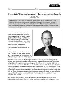 Steve jobs evaluation of college speach