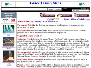 """Stomp""-Style Sequences Lesson Plan"