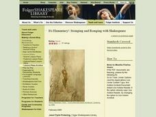 Stomping and Romping with Shakespeare Lesson Plan
