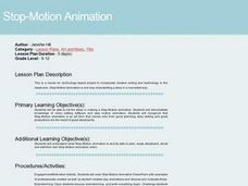 Stop Motion Animation Lesson Plan