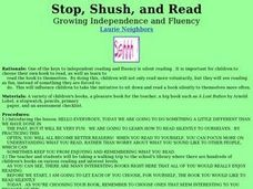 Stop, Shush, and Read Lesson Plan