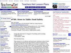 Store to Table: Food Safety (Senior, other) Lesson Plan
