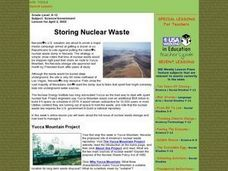Storing Nuclear Waste Lesson Plan