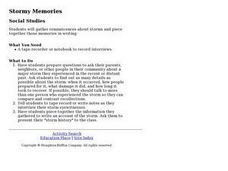 Stormy Memories Lesson Plan