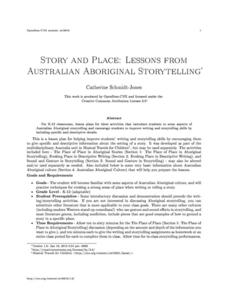 Story and Place: Lessons from Australian Aboriginal Storytelling Lesson Plan