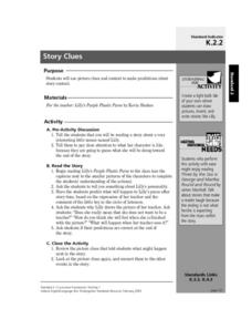 Story Clues Lesson Plan