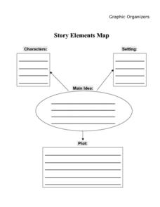 story elements map 7th 8th grade worksheet lesson planet. Black Bedroom Furniture Sets. Home Design Ideas