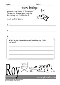 "Story Endings- ""The Movies"" Worksheet"