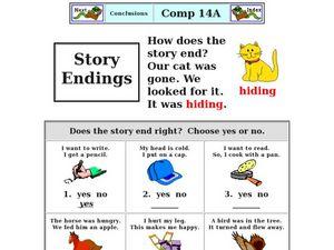 story endings 3rd 5th grade worksheet lesson planet. Black Bedroom Furniture Sets. Home Design Ideas