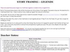 Story Framing Legends Lesson Plan