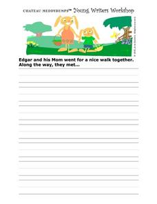 Story Starter-- Bunnies on a Walk Worksheet